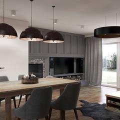 Dom w Rumi: styl , w kategorii Jadalnia zaprojektowany przez Studio Projektowe Kreatura