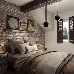 Dom w Rumi: styl , w kategorii Sypialnia zaprojektowany przez Studio Projektowe Kreatura