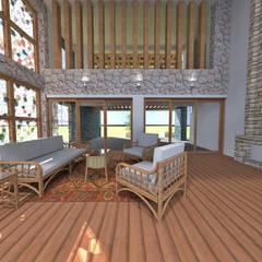 Casa de Campo en Jayanca de ROQA.7 ARQUITECTURA Y PAISAJE Rústico Madera Acabado en madera
