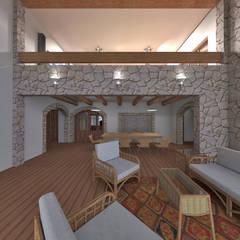 Casa de Campo en Jayanca de ROQA.7 ARQUITECTURA Y PAISAJE Rústico Piedra