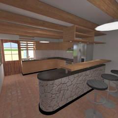 Casa de Campo en Jayanca: Cocinas de estilo  por ROQA.7 ARQUITECTOS