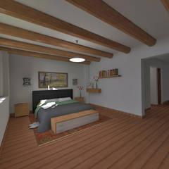 Casa de Campo en Jayanca: Dormitorios de estilo  por ROQA.7 ARQUITECTOS