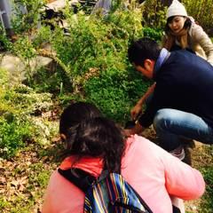 本山第一小学校緑地改修: ミドリカフェが手掛けた学校です。