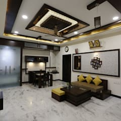 Modern Residence:  Dining room by RAVI - NUPUR ARCHITECTS,