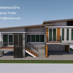 บ้าน1ชั้น ยกสูง:  บ้านและที่อยู่อาศัย by รับเขียนแบบบ้าน&ออกแบบบ้าน
