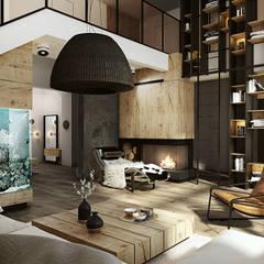 WARSZAWA / ANIN - 220M2: styl , w kategorii Salon zaprojektowany przez razoo-architekci
