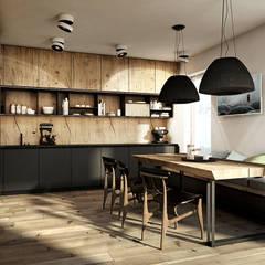 WARSZAWA / ANIN - 220M2: styl , w kategorii Kuchnia zaprojektowany przez razoo-architekci
