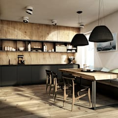 eclectic Kitchen by razoo-architekci