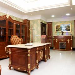 歐式古典建築及室內設計家具配置:  書房/辦公室 by 傑德空間設計有限公司