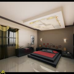 شقة بتصميم مصري:  غرفة نوم تنفيذ Etihad Constructio & Decor, إنتقائي