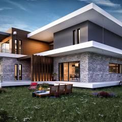 VERO CONCEPT MİMARLIK – Güzelbahçe Villa:  tarz Evler