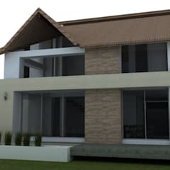 Casa campestre Chinauta: Casas de estilo  por no aplica