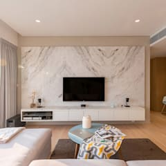 :  Living room by arctitudesign, Minimalist Marble