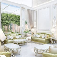 Eastern hospitality interiors Katrina Antonovich: asian Dining room by Luxury Antonovich Design
