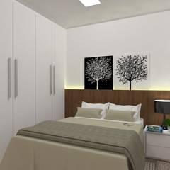 Studio Orbit 703: Quartos  por 2:1 Arquitetura & Interiores