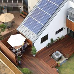 프라이버시는 소중해! 원주 'ㄷ'자집: 주택설계전문 디자인그룹 홈스타일토토의  정원