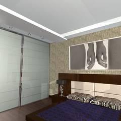 Квартира 100м2 в Одинцово: Спальни в . Автор – архитектурная мастерская МАРТ