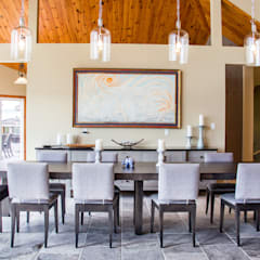 Lake of the woods cottage dining room: modern Dining room by Unit 7 Architecture