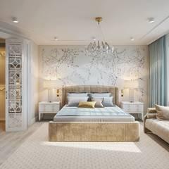 Квартира на Мосфильмовской: Спальни в . Автор – Diana Tarakanova Design, Эклектичный
