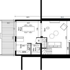 plan de l'extension: Murs de style  par Dem Design