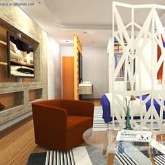 Aires de Contrastes: Dormitorios de estilo  por Íntegra Arquitectura