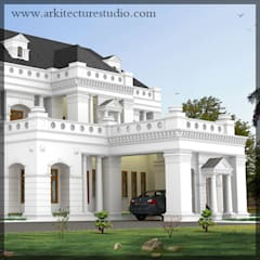 Casas de estilo colonial por Arkitecture studio,Architects,Interior designers,Calicut,Kerala india