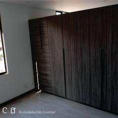 Remodelación Apartamento Chapinero: Habitaciones de estilo  por Lúdico Arquitectos