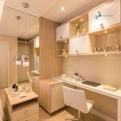 Apartamento Nine: Quartos  por Camila Chalon Arquitetura,Moderno