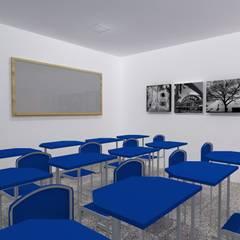 Sala de aula do curso SUPERA: Escolas  por PorcaroAlves Arquitetura