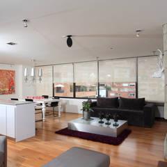 Apto Cr 3 - Cll 74 : Salas de estilo  por Bloque B Arquitectos
