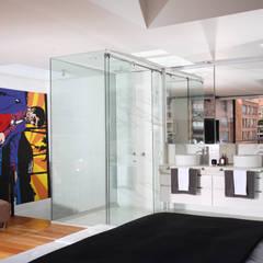 Apto Cr 3 - Cll 74 : Baños de estilo  por Bloque B Arquitectos