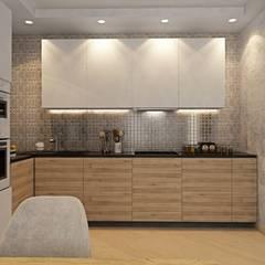 1к.кв. в ЖК Ямайка (67 м.кв.): Кухни в . Автор – ДизайнМастер