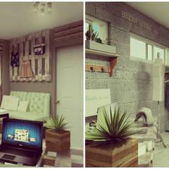 Showroom y Quincho: Vestidores y placares de estilo  por VI Arquitectura & Dis. Interior