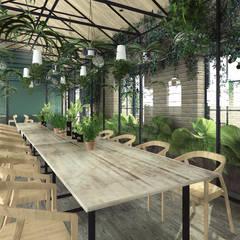 Kuchnia Darwina restauracja: styl , w kategorii Gastronomia zaprojektowany przez Mojmir design
