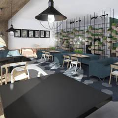Kuchnia Darwina sala i bar: styl , w kategorii Gastronomia zaprojektowany przez Mojmir design