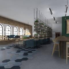 Kuchnia Darwina: styl , w kategorii Gastronomia zaprojektowany przez Mojmir design
