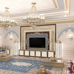 Interior design Arabic style of Katrina Antonovich:  Living room by Luxury Antonovich Design