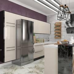 Дизайн интерьера апартаментов в таунхаусе : Кухни в . Автор – мастерская интерьера РУБЛЕВКА / workshop interior RUBLEVKA