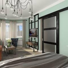 industrial Bedroom by мастерская интерьера РУБЛЕВКА / workshop interior RUBLEVKA