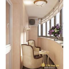 Four room appartment Voronyanskogo st:  Windows  by Студия дизайна интерьера Dking