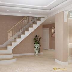 Privet house interior desgn :  Corridor & hallway by Студия дизайна интерьера Dking