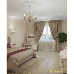 Privet house interior desgn :  Bedroom by Студия дизайна интерьера Dking