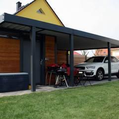 Design Metallcarport Leipzig:  Garage & Schuppen von Stahlzart®