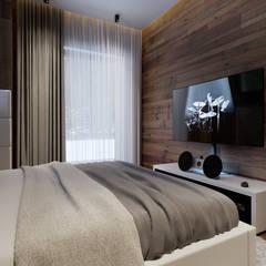 Загородная резиденция шале Ak Bulak 02: Спальни в . Автор – ATO Studio