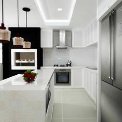 Cozinha: Cozinhas  por Malu Zanatto Arquitetura