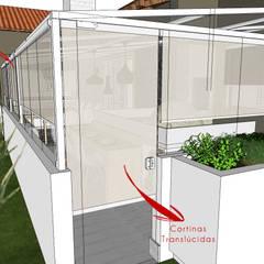 Jardim de Inverno para Residência Jardins de inverno escandinavos por Andressa Cobucci Estúdio Escandinavo Tijolo