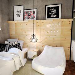 Dormitorios de estilo  por Andressa Cobucci Estúdio