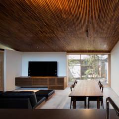 Living room by  井上久実設計室