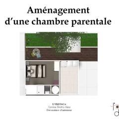 Plan 2D: Chambre de style de style Colonial par L'Oeil DeCo