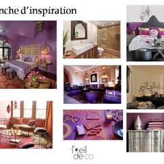 Aménagement d'un espace dédié à la beauté: Bureau de style de style Méditerranéen par L'Oeil DeCo